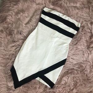 bodycon dress with black stripes